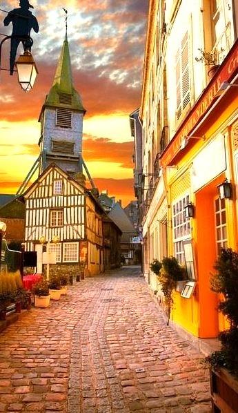 Sunset, Honfleur, Normandy, France