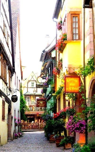 Medieval Village, Alsace, France