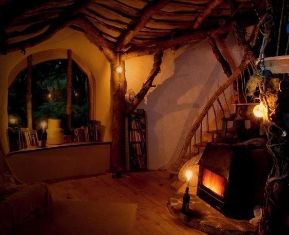Hobbit House Interior, Wales, Great Britain